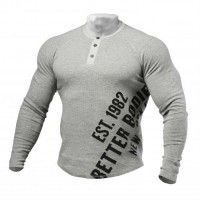 Свитер Better Bodies L/S Henley, Grey Melange